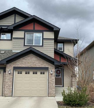 Photo 1: 16004 10 Avenue in Edmonton: Zone 56 House Half Duplex for sale : MLS®# E4173548