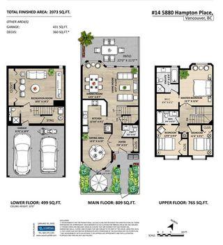 Photo 20: 14 5880 HAMPTON PLACE in Vancouver: University VW Townhouse for sale (Vancouver West)  : MLS®# R2436640