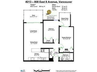 Photo 13: 213 808 E 8TH Avenue in Vancouver: Mount Pleasant VE Condo for sale (Vancouver East)  : MLS®# V1024076