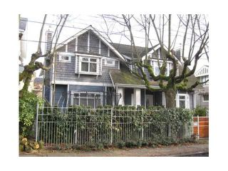 Main Photo: 1820 COLLINGWOOD Street in Vancouver: Kitsilano House 1/2 Duplex for sale (Vancouver West)  : MLS®# V942383