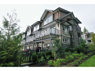 "Photo 1: 108 1480 SOUTHVIEW Street in Coquitlam: Burke Mountain Townhouse for sale in ""CEDAR CREEK"" : MLS®# V1021704"
