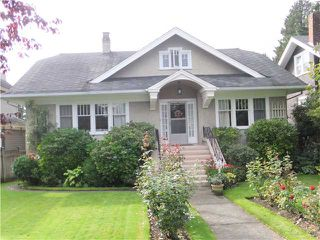 Photo 1: 6675 WILTSHIRE ST in Vancouver: South Granville House for sale (Vancouver West)  : MLS®# V1027493