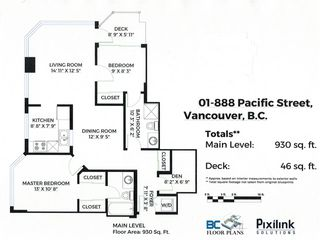 Photo 1: 901 888 PACIFIC STREET in Vancouver: Yaletown Condo for sale (Vancouver West)  : MLS®# R2509472