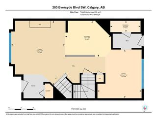 Photo 3: 205 EVERSYDE Boulevard SW in Calgary: Evergreen Semi Detached for sale : MLS®# A1034000