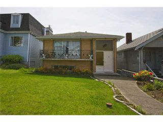 Photo 1: 3656 FRANKLIN ST in Vancouver: Hastings East House for sale (Vancouver East)  : MLS®# V1066629