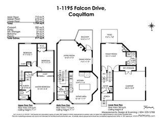 Photo 20: 1 1195 FALCON Drive in Coquitlam: Eagle Ridge CQ Townhouse for sale : MLS®# R2441753