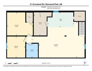 Photo 33: 31 GROVELAND Road: Sherwood Park House for sale : MLS®# E4224942