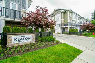 """Photo 1: 62 7686 209 Street in Langley: Willoughby Heights Townhouse for sale in """"KEATON"""" : MLS®# R2465225"""