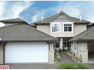 """Photo 1: 15 15151 26TH Avenue in Surrey: Sunnyside Park Surrey Townhouse for sale in """"WEST GLEN"""" (South Surrey White Rock)  : MLS®# F1202634"""