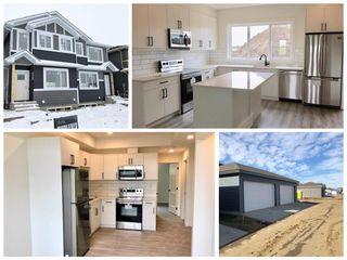 Photo 1: 315 Orchards Boulevard in Edmonton: Zone 53 House Half Duplex for sale : MLS®# E4179751