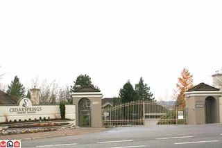 "Photo 8: 17 4001 OLD CLAYBURN Road in Abbotsford: Abbotsford East Townhouse for sale in ""CEDAR SPRINGS"" : MLS®# F1226045"