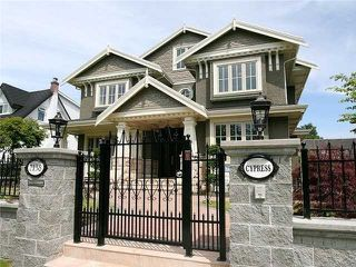 Main Photo: 7138 CYPRESS ST in Vancouver: South Granville House for sale (Vancouver West)  : MLS®# V977844