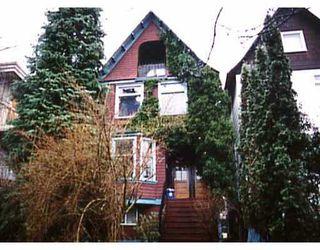 Main Photo: 2242 W 8TH AV in : Kitsilano House for sale : MLS®# V166983
