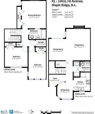 Photo 20: 3 20625 118 AVENUE in Maple Ridge: Southwest Maple Ridge Townhouse for sale : MLS®# R2347901