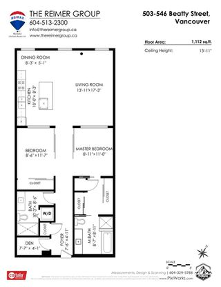 """Photo 39: 503 546 BEATTY Street in Vancouver: Downtown VW Condo for sale in """"THE CRANE"""" (Vancouver West)  : MLS®# R2528075"""