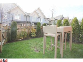 "Photo 10: 25 6635 192ND Street in Surrey: Clayton Townhouse for sale in ""Leafside Lane"" (Cloverdale)  : MLS®# F1204688"