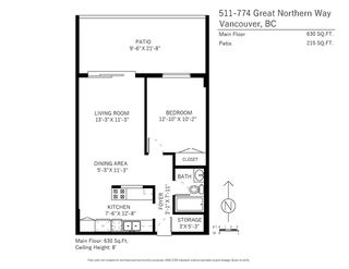 Photo 20: 511 774 GREAT NORTHERN WAY in Vancouver: Mount Pleasant VE Condo for sale (Vancouver East)  : MLS®# R2242318
