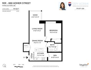 Photo 34: 909 888 HOMER Street in Vancouver: Downtown VW Condo for sale (Vancouver West)  : MLS®# R2475403