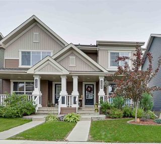 Photo 1: 4125 ORCHARDS Drive in Edmonton: Zone 53 House Half Duplex for sale : MLS®# E4175306