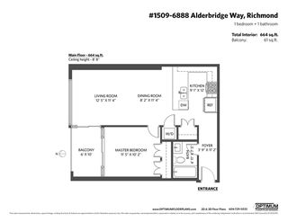 "Photo 19: 1509 6888 ALDERBRIDGE Way in Richmond: Brighouse Condo for sale in ""THE FLO"" : MLS®# R2469744"