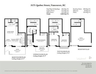 "Photo 20: 3171 QUEBEC Street in Vancouver: Mount Pleasant VE Townhouse for sale in ""Q16 - Quebec/16th"" (Vancouver East)  : MLS®# R2401940"