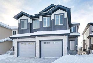 Photo 1: 17717 13 Avenue in Edmonton: Zone 56 House Half Duplex for sale : MLS®# E4185789