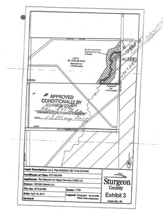 Photo 2: : Rural Sturgeon County Rural Land/Vacant Lot for sale : MLS®# E4174026