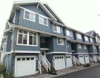 """Photo 1: 935 EWEN Ave in New Westminster: Queensborough Townhouse for sale in """"COOPER'S LANDING"""" : MLS®# V628484"""