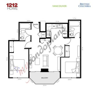 Photo 9: 1608 1212 HOWE STREET in Vancouver: Downtown VW Condo for sale (Vancouver West)  : MLS®# R2410666