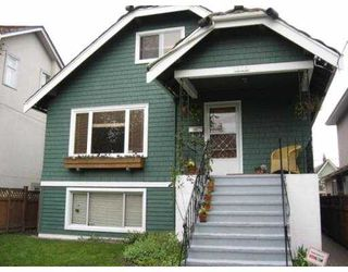 Main Photo: 1606 E 10TH AV in Vancouver: Grandview VE House for sale (Vancouver East)  : MLS®# V585711