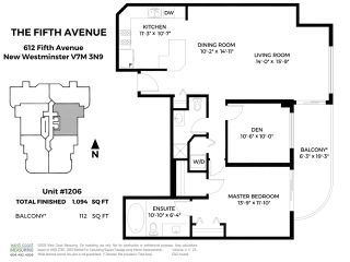 """Photo 24: 1206 612 FIFTH Avenue in New Westminster: Uptown NW Condo for sale in """"The Fifth Avenue"""" : MLS®# R2514010"""