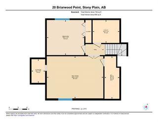 Photo 46: 20 BRIARWOOD Point: Stony Plain House for sale : MLS®# E4186414