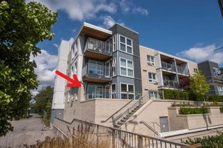 "Photo 1: 105 4815 55B Street in Ladner: Hawthorne Condo for sale in ""THE POINTE"" : MLS®# R2486531"