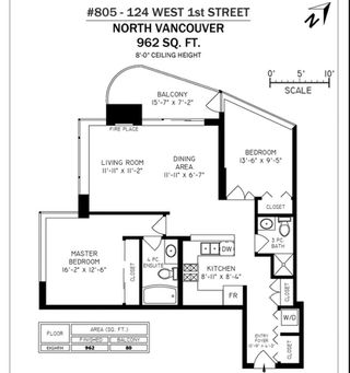 "Photo 18: 805 124 W 1ST Street in North Vancouver: Lower Lonsdale Condo for sale in ""The Q"" : MLS®# R2436276"