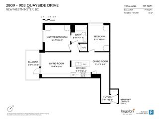 """Photo 22: 2809 908 QUAYSIDE Drive in New Westminster: Quay Condo for sale in """"Riversky 1"""" : MLS®# R2474604"""