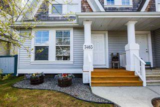 Photo 1: 7403 16 Avenue in Edmonton: Zone 53 House Half Duplex for sale : MLS®# E4197144
