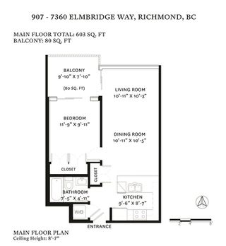 "Photo 20: 907 7360 ELMBRIDGE Way in Richmond: Brighouse Condo for sale in ""FLO"" : MLS®# R2452671"