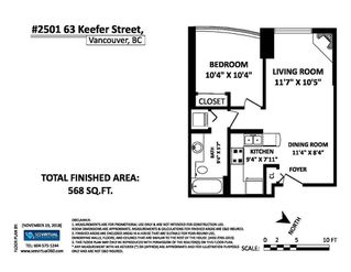 Photo 20: 2501 63 KEEFER PLACE in Vancouver: Downtown VW Condo for sale (Vancouver West)  : MLS®# R2324107