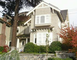 Main Photo: 1720 TRAFALGAR ST in Vancouver: Kitsilano House 1/2 Duplex for sale (Vancouver West)  : MLS®# V563870