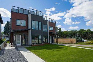 Photo 1: 9327 CONNORS Road in Edmonton: Zone 18 House Half Duplex for sale : MLS®# E4207248