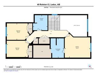 Photo 37: 40 ROLSTON Close: Leduc House Half Duplex for sale : MLS®# E4193279