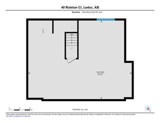 Photo 38: 40 ROLSTON Close: Leduc House Half Duplex for sale : MLS®# E4193279