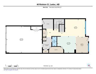 Photo 36: 40 ROLSTON Close: Leduc House Half Duplex for sale : MLS®# E4193279