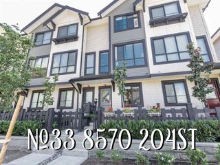 "Photo 1: 33 8570 204 Street in Langley: Willoughby Heights Townhouse for sale in ""WOODLAND PARK"" : MLS®# R2396584"