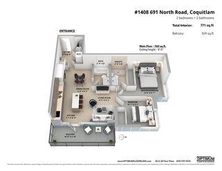 "Photo 20: 1408 691 NORTH Road in Coquitlam: Central Coquitlam Condo for sale in ""Burquitlam Capital"" : MLS®# R2408335"