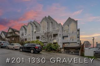 """Photo 1: 201 1330 GRAVELEY Street in Vancouver: Grandview Woodland Condo for sale in """"Hampton Court"""" (Vancouver East)  : MLS®# R2466394"""