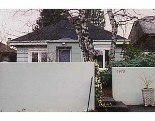 Photo 1: 3973 W 24TH AV in Vancouver: Dunbar House for sale (Vancouver West)  : MLS®# V587265