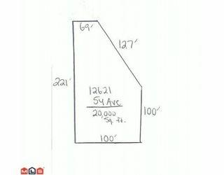 "Main Photo: 12621 54TH in SURREY: Panorama Ridge Land for sale in ""Panorama Ridge"" (Surrey)  : MLS®# F1002138"