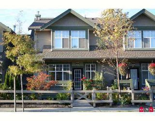 """Photo 1: 52 6050 166TH Street in Surrey: Cloverdale BC Townhouse for sale in """"Westfield"""" (Cloverdale)  : MLS®# F2704212"""