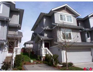"Photo 1: 16760 61ST Ave in Surrey: Cloverdale BC Townhouse for sale in ""HARVEST LANDING"" (Cloverdale)  : MLS®# F2708269"